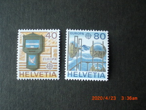 ヨーロッパ切手ーバーゼルの郵便受け他 2種完 1979年 未使用 スイス共和国 VF/NH