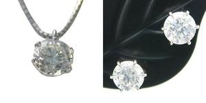 ダイヤモンド ネックレス ピアス 一粒 安い 0.365ct Dカラー VVS2クラス 3EXカット H&C 0.6ctup Dカラー VVSクラス 3EXカット H&C CGL
