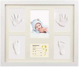 【売れ筋】ベビーフレーム iSiLER 手形 足形 フォトフレーム 置き掛け兼用 無毒で安全 赤ちゃん 出産祝い 内祝い ベビー記念品