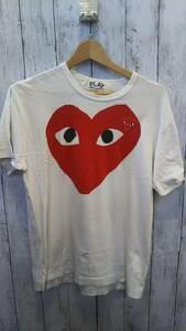 COMME des GARCONS コムデギャルソン 半袖Tシャツ ホワイト 刺繍 19AW AZ-T026 コットン100% M