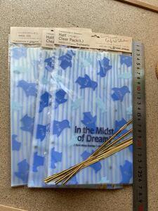 包装紙ラッピング・ペンギン・キャンディ袋・止め金付き、5枚入り3セット★15x23cm