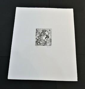 瑛九 銅版画 『 SCALE  P 』 未使用シート 東京国立近代美術館収蔵