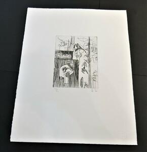 瑛九 銅版画 『 SCALE  H 』 未使用シート 東京国立近代美術館収蔵