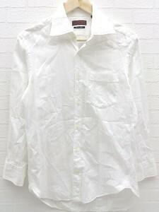 ◇ D'URBAN ダーバン ストライプ 長袖 ドレス シャツ S ホワイト # 1002798861916