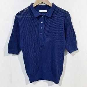 THE SHINZONE ザ シンゾーン 18SS ニットポロシャツ F ネイビー