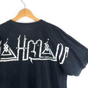 ハンドプリント! 00s【BRAHMAN 限定 手刷り】Tシャツ XL ブラフマン PIZZA OF DEATH kenyokoyama ハイスタ TOSHI-LOW バンドT ロックT 古着