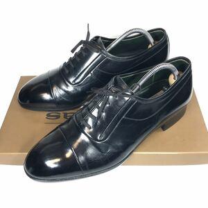 【マドラス】本物 madras 靴 25cm 黒 ストレートチップ ビジネスシューズ 内羽根式 本革 レザー 男性用 メンズ 日本製 25 EEEE 箱有