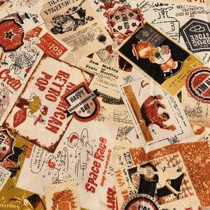 【はぎれ】日本製 ポップな柄 布 生地 ハンドメイド用  約110cm×約50cm 綿◇コットン《送料無料》