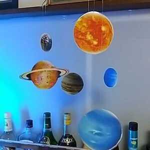 NEW 太陽系 地球 木星 土星 宇宙 星 モビール フレンステッド ではないです! 天文