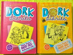 洋書アメリカ製 英語版ハードカバー絵本2冊セット!DORK diaries①&③♪