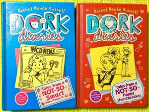 洋書アメリカ製 英語版ハードカバー絵本2冊セット!DORK diaries⑤&⑥♪