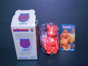 【新品!!】 数量1 シリーズ7 ベーシック BASIC 「 小B 」 100% ベアブリック オレンジ BE@RBRICK MEDICOM TOY メディコムトイ フィギュア