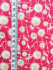 USAコットン 花柄ピンク 50cm