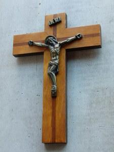 oフランスアンティーク 十字架 クロス 教会 ブロカント 蚤の市 仏 壁掛け ウォール 木製 キリスト ビンテージ