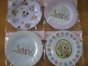 ディズニーキャラクター プレート 全4種 セット メラミン 皿 イースター ミッキー ミニー ドナルド デイジー プルート チップ デール 食器