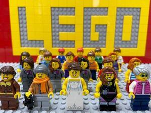 ☆女性☆ レゴ ミニフィグ 大量20体 女の子 ウェディングドレス スチュワーデス など ( LEGO 人形 シティ ミニフィギュアシリーズ