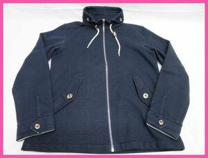 TAKA:Q タカキュー メンズ ジップアップ ジャケット ブルゾン ブラック スタンドカラー Lサイズ