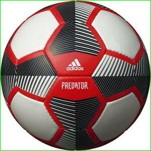 アディダス プレデター グライダー4号球 白×黒×赤 手縫い 検定球4号球