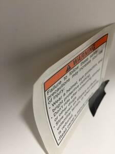 スズキ SUZUKI 純正 部品 北米 アメリカ 向け タンク コーション ステッカー 英字 隼 GSX-R gsxr gs rg gt gsx 250 400 550 380 250 FW