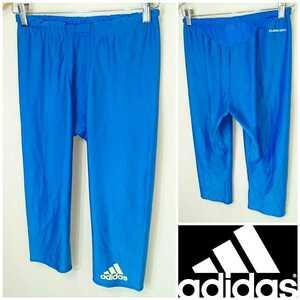 O/XL【adidas/アディダスCLIMA‐COOL】MENS/メンズ 男性用 ボトム スポーツ ウェア インナー スパッツ タイツ ジム マラソン ランニング