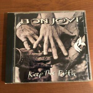 送料無料Bon Jovi「Keep the Faith」日本盤 ライナー訳詞あり 状態良好