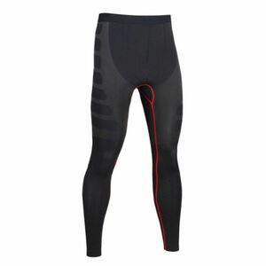 送料無料 新品 ランニングウェア ロングタイツ メンズ XLサイズ ブラック レッド パンツ トレーニング スポーツ アウトドア 加圧 6020