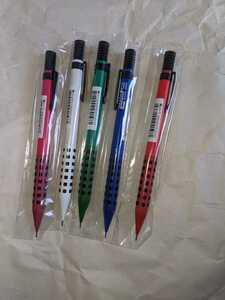 スマッシュ ロフト限定カラー軸 5色セット 0.5mm ぺんてる シャープ レッド 赤 ブルー 青 ピンク 桃 ホワイト 白 グリーン 緑 新品 即決