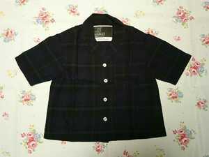 swap meet market スワップミートマーケット 綿麻チェックシャツ♪120サイズ