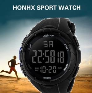 HONHX■新品■ラウンドビッグフェイス! 30m防水 海外限定 ダイバーズ メンズ腕時計 アナデジ アナログ デジタル
