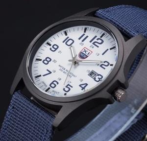 ■新品■ ミリタリー腕時計 青 カジュアル アウトドア NATOバンド アーミー 自衛隊 サバゲー サバイバルゲーム