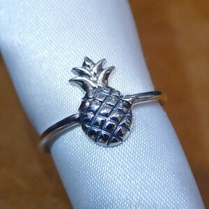 SR1936 Ring Silver 925 Ring Ring No.16 Hawaii Pineapple Pine Free Shipping