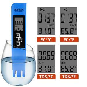 TDS Ec メーター温度テスターペン 3 In1 機能導電率水質測定ツール TDS & EC テスター 0-9990ppm 15%