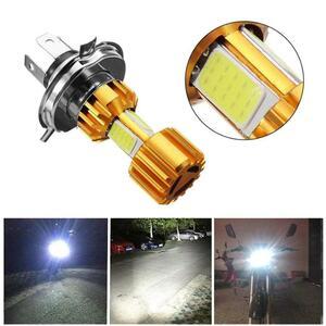 H4 LED オートバイヘッドライト電球 6500 18K 12 V 電動バイクバイクフォグランプ穂軸原付スクーター修正されたハイ/ロー