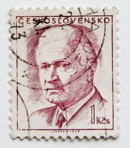 チェコスロバキア 切手 1970年発行 大統領 ルドヴィーク・スヴォボダ 1kcs 郵便 政治 ヨーロッパ 東欧 欧州 チェコスロヴァキア 国家元首