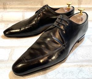 miumiu ミュウミュウ◆25cm 6.5◆ITALY製◆Uチップ◆黒 ブラック◆革靴 レザー ビジネスシューズ ドレスシューズ 本革 メンズ 高級靴 靴