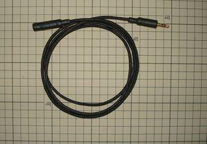 3.5mmステレオミニ延長ケーブル モガミ2944 黒色メッシュスリーブ 1.5M REAN 金メッキミニプラグ クリックポスト送料込