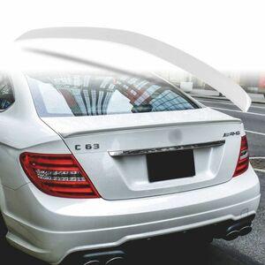 純正色塗装 ABS製 トランクスポイラー メルセデスベンツ W204 C204用 クーペ Aタイプ 両面テープ取付 カラーコード:775 MTS-27175