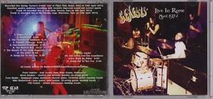 Genesis ジェネシス - Live In Rome, April 1972 ボーナス・トラック2曲収録CD