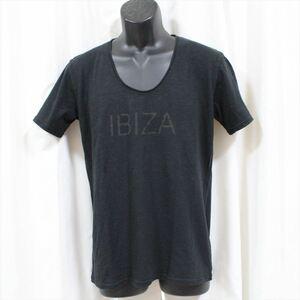 エドハーディー ED HARDY メンズ半袖Tシャツ ブラック Lサイズ NO80 新品 IBIZA