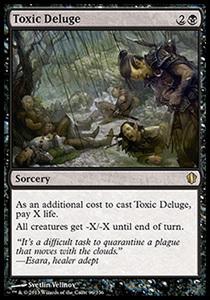 え黒 毒の濁流 1枚(2枚在庫s 英 良品 C13)/Toxic Deluge(MTG /統率者(2013年版)/Commander 2013/)