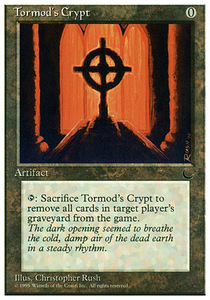 え銀 トーモッドの墓所 1枚(1枚在庫s 英 良品 CHR)/Tormod's Crypt(MTG /クロニクル/Chronicles/CH/)