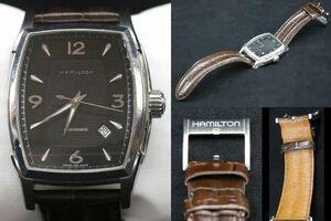 【黒檀堂】動作確認済 HAMILTON ハミルトン ジャズマスタートノー 自動巻き メンズウォッチ 腕時計