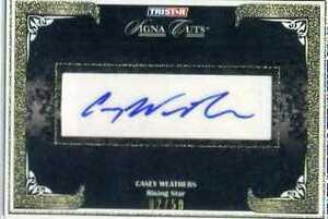 CASEY WEATHERS(ロッキーズ、カブス、ジャイアンツ他 2008北京オリンピック アメリカ代表)Tri-Star 直筆サインカード 02/50