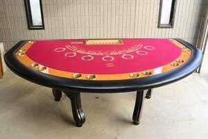 引渡可 ブラックジャックテーブル 7人用 カジノ CASINO マツイ社製 MATSUI バカラ ルーレット トランプ 本格的 ポーカー POKER BLACKJACK