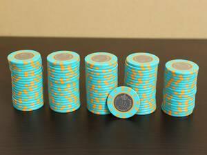 CC.210-J【$10】99枚 中古カジノチップ コイン CASINO トランプ ポーカー プレイチップ メダル ルーレット バカラ ブラックジャック CASINO