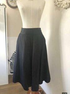 GG ET MARIA ジジエマリア ウエストマーク  フレアロングスカート ギャザースカート 黒 コットン 美品 z1