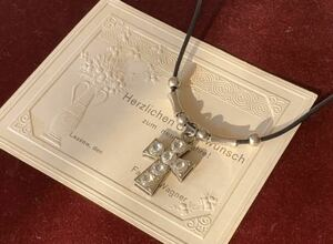 フランス ネックレス 十字架 クロス ペンダント チョーカー