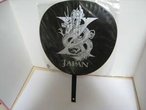 ☆X-JAPAN うちわ WORLDTOUR LIVEINYOKOHAMA ・中古未使用