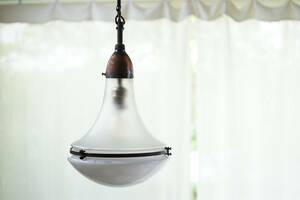 名作稀少 バウハウス Peter Behrensデザインのガラスランプ Luzette 照明 ヴィンテージ 古道具 アンティーク 古物 工業系