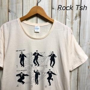 バンドT・ロックT 踊る!ディスコ室町 Tシャツ L ファンク ベージュ ●25